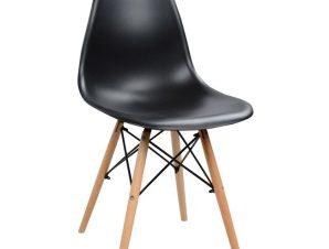 Καρέκλα Μεταλλική-Ξύλινη Μαύρη 46x50x82εκ. Freebox FB98460.02 (Υλικό: Ξύλο) – Freebox – FB98460.02