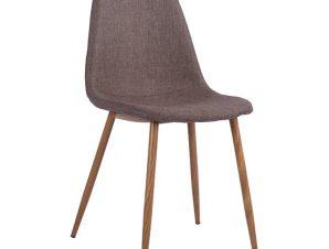 Καρέκλα Μεταλλική-Υφασμάτινη Καφέ 44x55x85Υεκ. Freebox FB900100.03 (Υλικό: Μεταλλικό, Χρώμα: Καφέ) – Freebox – FB900100.03