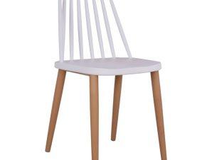 Καρέκλα Τραπεζαρίας Μεταλλική Λευκή 43×46,5×82εκ. Freebox FB98052.01 (Υλικό: Μεταλλικό, Χρώμα: Λευκό) – Freebox – FB98052.01