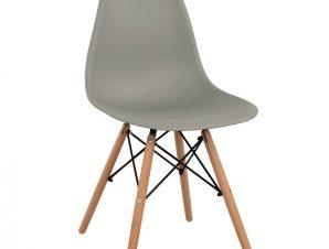 Καρέκλα Ξύλινη-Πολυπροπυλενίου Γκρι Freebox 46x50x82εκ. FB98460.10 (Υλικό: Ξύλο, Χρώμα: Γκρι) – Freebox – FB98460.10