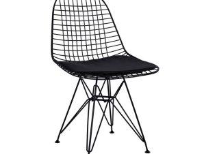 Καρέκλα Μεταλλική-Pu Με Μαξιλάρι Freebox 49x52x85,5εκ. FB98230.02 (Υλικό: Μεταλλικό, Χρώμα: Μαύρο) – Freebox – FB98230.02
