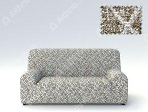 Ελαστικά Καλύμματα Καναπέ, Πολυθρόνας Λύκρα- σχ. Grecia-Λαδί-Λευκό-Πολυθρόνα-10+ Χρώματα Διαθέσιμα-Καλύμματα Σαλονιού