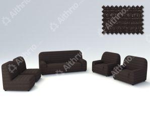 Ελαστικά Καλύμματα Καρέκλας Σαλονιού Ibiza – Μαύρο