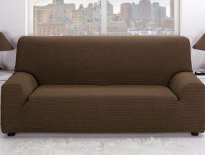 Ελαστικά καλύμματα καναπέ Ibiza-Πολυθρόνα-Καφέ-10+ Χρώματα Διαθέσιμα-Καλύμματα Σαλονιού