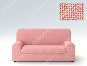 Ελαστικά Καλύμματα Καναπέ, Πολυθρόνας Λύκρα- σχ. Ξεχωριστό Μαξιλάρι Bielastic Alaska – C/22 Ροζ – Τριθέσιος-10+ Χρώματα Διαθέσιμα-Καλύμματα Σαλονιού