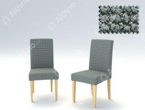 Σετ (2 Τμχ) Ελαστικά Καλύμματα Καρέκλας Με Πλάτη Super Elastic Milos – C/17 Ασπρόμαυρο