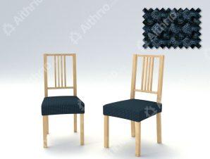Σετ (2 Τμχ) Ελαστικά Καλύμματα-Καπάκια Καρέκλας Super Stretch Milos – C/25 Ναυτικό Μπλε