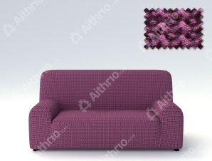 Ελαστικά Καλύμματα Προσαρμογής Σχήματος Καναπέ Milos – C/9 Μωβ – Τετραθέσιος-10+ Χρώματα Διαθέσιμα-Καλύμματα Σαλονιού