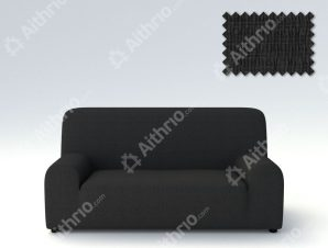 Ελαστικά Καλύμματα Προσαρμογής Σχήματος Καναπέ Peru-Μαύρο-Πολυθρόνα-10+ Χρώματα Διαθέσιμα-Καλύμματα Σαλονιού