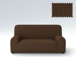 Ελαστικά καλύμματα καναπέ Peru-Τριθέσιος-Καφέ-10+ Χρώματα Διαθέσιμα-Καλύμματα Σαλονιού