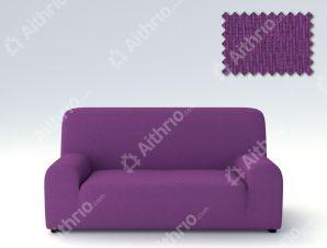 Ελαστικά Καλύμματα Προσαρμογής Σχήματος Καναπέ Peru-Μωβ-Τετραθέσιος-10+ Χρώματα Διαθέσιμα-Καλύμματα Σαλονιού