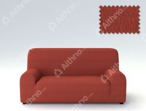 Ελαστικά Καλύμματα Προσαρμογής Σχήματος Καναπέ Peru-Κεραμιδί-Πολυθρόνα-10+ Χρώματα Διαθέσιμα-Καλύμματα Σαλονιού