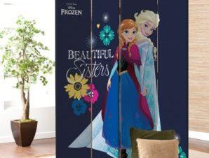 Οι Όμορφες Αδερφές, Frozen Disney Παραβάν 80×180 cm [Δίφυλλο]