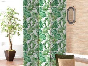 Πράσινα Φύλλα Φόντο Παραβάν 80×180 cm [Δίφυλλο]