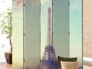 Θέα στο Παρίσι Vintage Παραβάν 80×180 cm [Δίφυλλο]