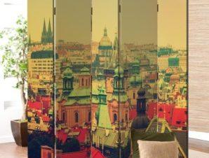 Κέντρο της Πράγας Vintage Παραβάν 80×180 cm [Δίφυλλο]