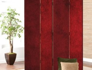 Κόκκινο εποχιακό φόντο Φόντο Παραβάν 80×180 cm [Δίφυλλο]