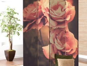 Vintage ροζ τριαντάφυλλα Vintage Παραβάν 80×180 cm [Δίφυλλο]