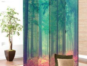 Μυστηριώδες δάσος Vintage Παραβάν 80×180 cm [Δίφυλλο]