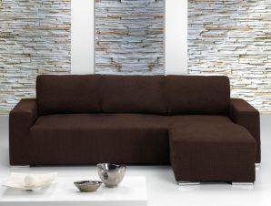 Ελαστικά καλύμματα γωνιακού καναπέ με κοντό μπράτσο Bielastic Alaska-Αριστερη-Καφέ