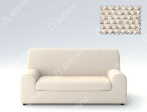 Ελαστικά καλύμματα καναπέ Ξεχωριστό Μαξιλάρι Bielastic Viena-Τριθέσιος-Ιβουάρ-10+ Χρώματα Διαθέσιμα-Καλύμματα Σαλονιού