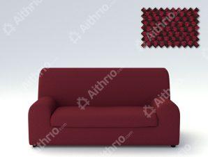 Ελαστικά καλύμματα καναπέ Ξεχωριστό Μαξιλάρι Bielastic Viena-Διθέσιος-Μπορντώ-10+ Χρώματα Διαθέσιμα-Καλύμματα Σαλονιού