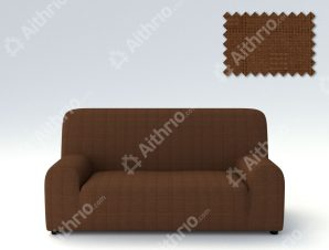 Ελαστικά καλύμματα καναπέ Tania-Πολυθρόνα-Καφέ-10+ Χρώματα Διαθέσιμα-Καλύμματα Σαλονιού