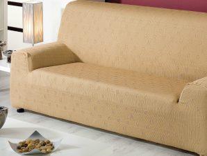 Ελαστικά καλύμματα καναπέ Tania-Τριθέσιος-Μπεζ-10+ Χρώματα Διαθέσιμα-Καλύμματα Σαλονιού