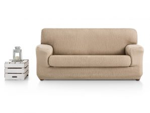 Ελαστικά καλύμματα καναπέ Ξεχωριστό Μαξιλάρι Valencia-Πολυθρόνα-Μπεζ-10+ Χρώματα Διαθέσιμα-Καλύμματα Σαλονιού
